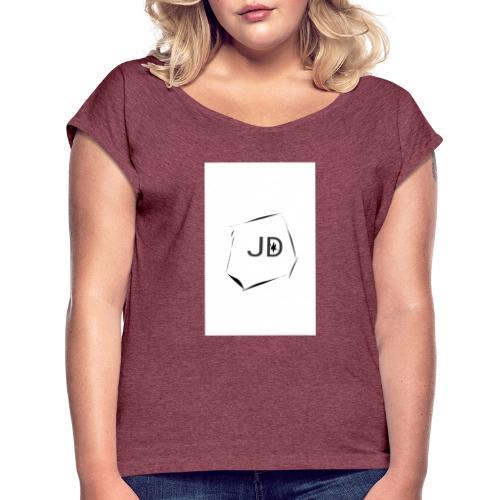 JDJest dobrze - Koszulka damska z lekko podwiniętymi rękawami