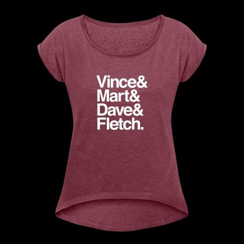 DM Depech Mode Original Lineup - T-shirt med upprullade ärmar dam
