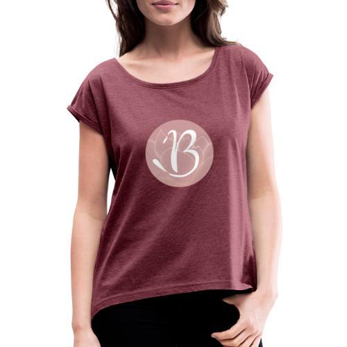 Blossom Logo - Frauen T-Shirt mit gerollten Ärmeln