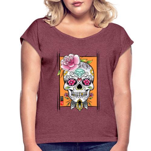 Mexican skull - T-shirt à manches retroussées Femme