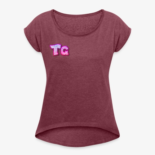 tg logo - Women's T-Shirt with rolled up sleeves