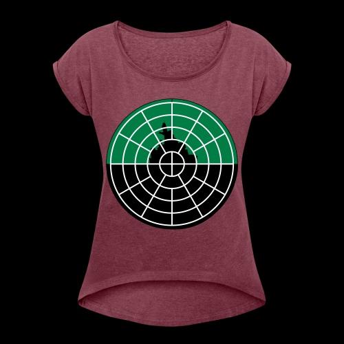 U-Boot Periskop - Frauen T-Shirt mit gerollten Ärmeln