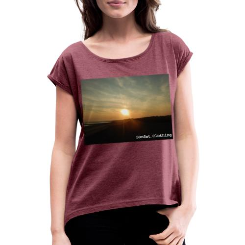 SunSet One - Frauen T-Shirt mit gerollten Ärmeln