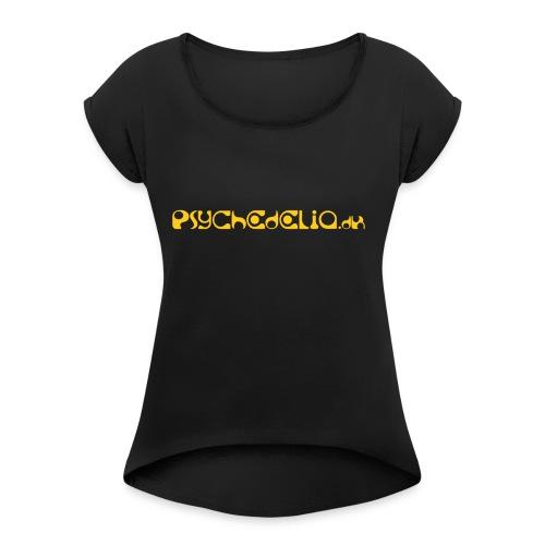 Psychedelia.dk - Dame T-shirt med rulleærmer