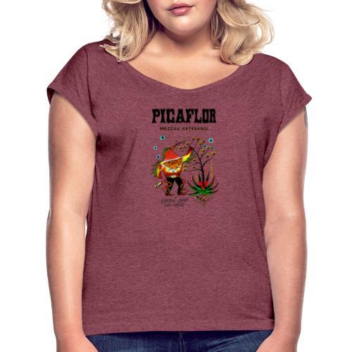 Picaflor Mezcal Original - T-skjorte med rulleermer for kvinner