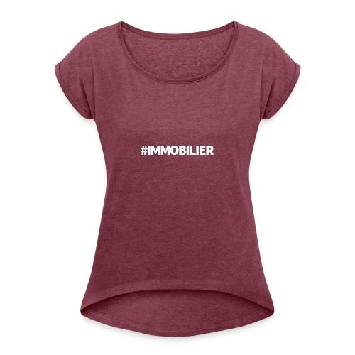 IMMOBILIER - T-shirt à manches retroussées Femme