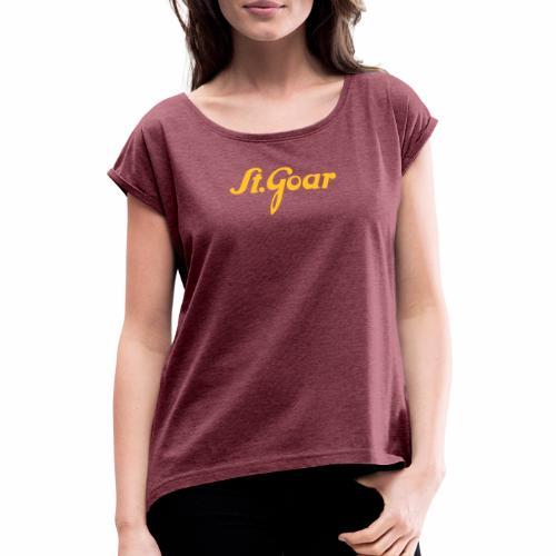 St. Goar - Frauen T-Shirt mit gerollten Ärmeln