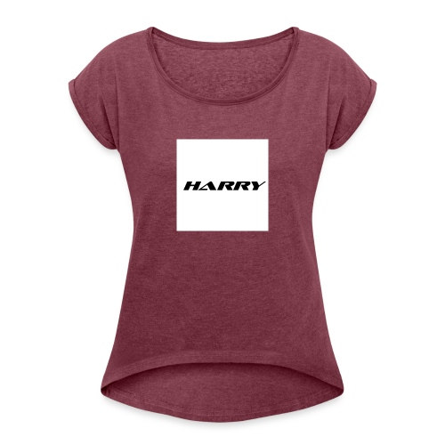 1st - Women's T-Shirt with rolled up sleeves