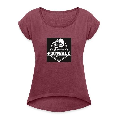 mpzgrossneu - Frauen T-Shirt mit gerollten Ärmeln