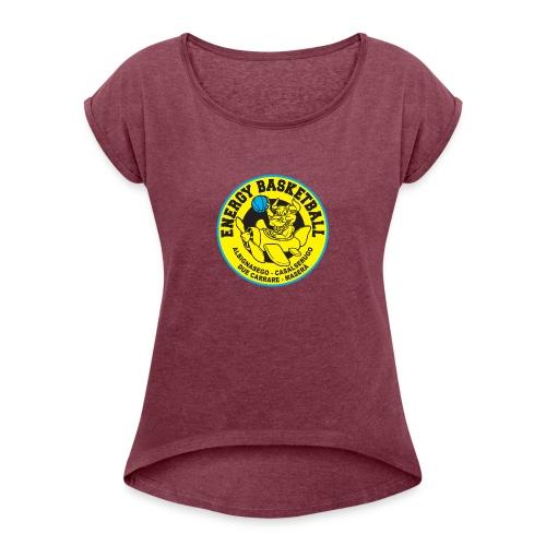 top energy - Maglietta da donna con risvolti
