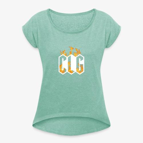 CLG DESIGN - T-shirt à manches retroussées Femme