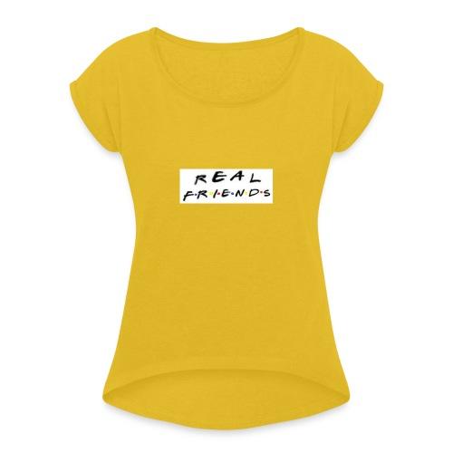 Real freinds - Dame T-shirt med rulleærmer