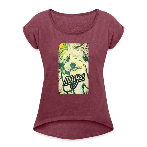 Musste, süsser Hund - Frauen T-Shirt mit gerollten Ärmeln