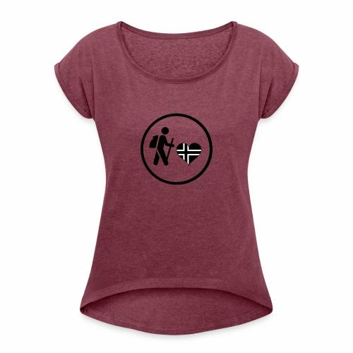Norwayhike - T-skjorte med rulleermer for kvinner