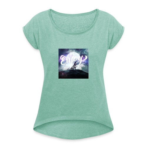 Kirstyboo27 - Women's T-Shirt with rolled up sleeves