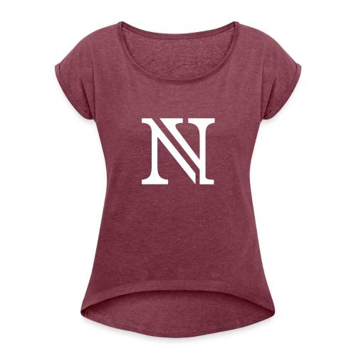 N allein - Frauen T-Shirt mit gerollten Ärmeln