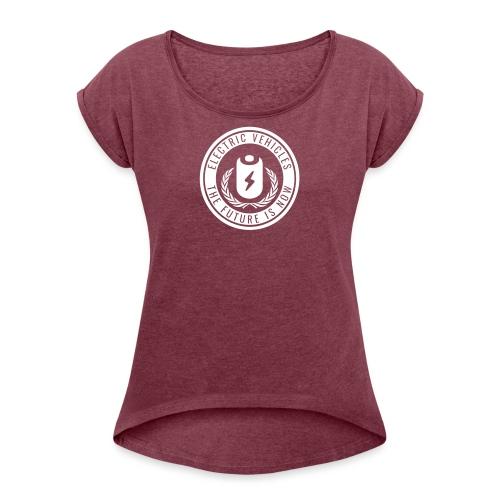 The Future is Now - Frauen T-Shirt mit gerollten Ärmeln