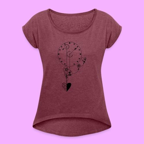 L'amour - T-shirt à manches retroussées Femme