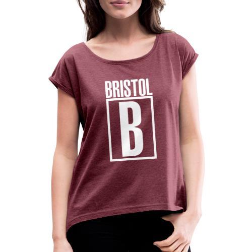 Bristol B - T-shirt med upprullade ärmar dam
