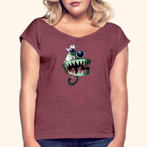 Appetite Robot Head - T-shirt med upprullade ärmar dam