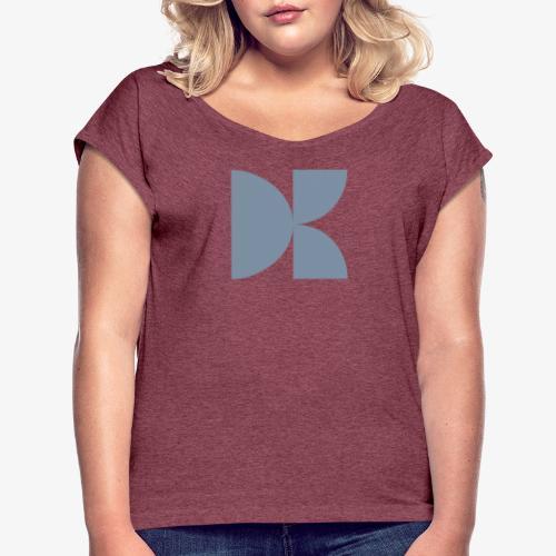DON'TKNOW - Frauen T-Shirt mit gerollten Ärmeln