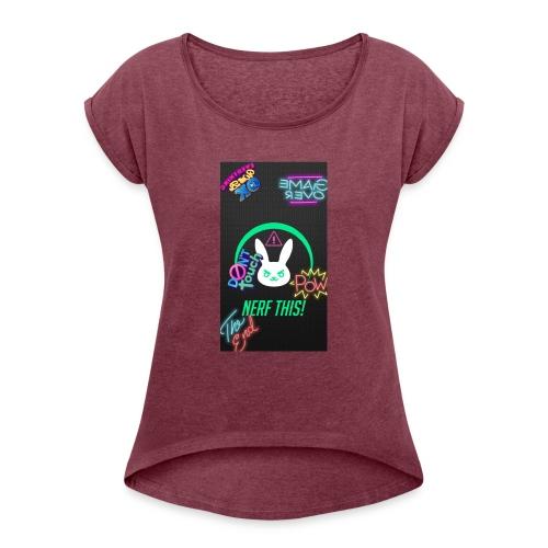 DVA nerf this - T-shirt med upprullade ärmar dam