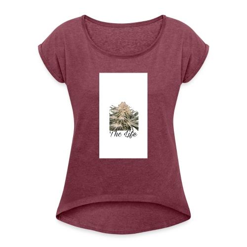 THC LIFE - Camiseta con manga enrollada mujer