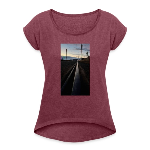 Blackpool, England, UK - Women's T-Shirt with rolled up sleeves