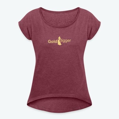 Top für Insiderinen mit Style - Frauen T-Shirt mit gerollten Ärmeln