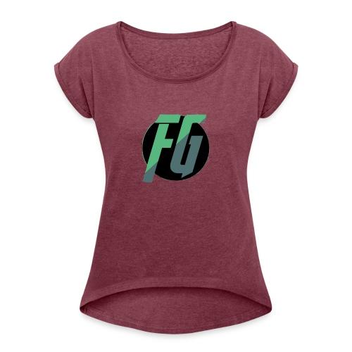 FGminy - Vrouwen T-shirt met opgerolde mouwen