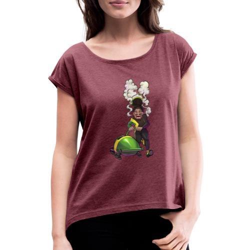 Gießen | Gimaica - out of many, one Gießen - Frauen T-Shirt mit gerollten Ärmeln