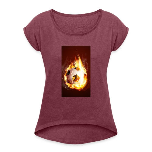 8FB52E46 EF94 4D33 805E B871B7268BBF - Women's T-Shirt with rolled up sleeves