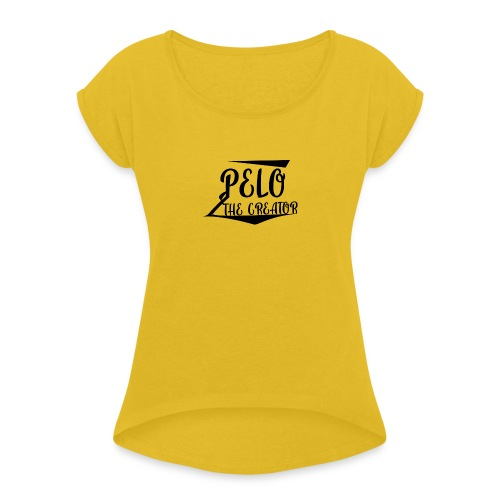 PeloTheCreator - Women's T-Shirt with rolled up sleeves