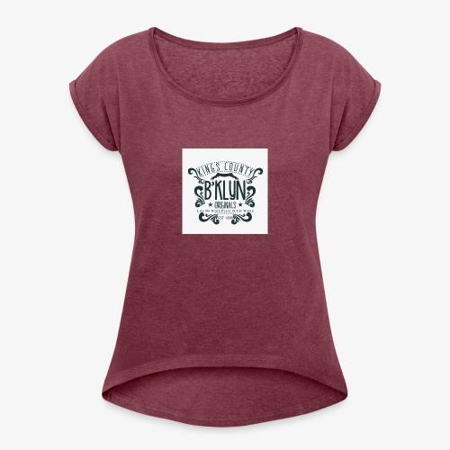 B`KLYN - Frauen T-Shirt mit gerollten Ärmeln