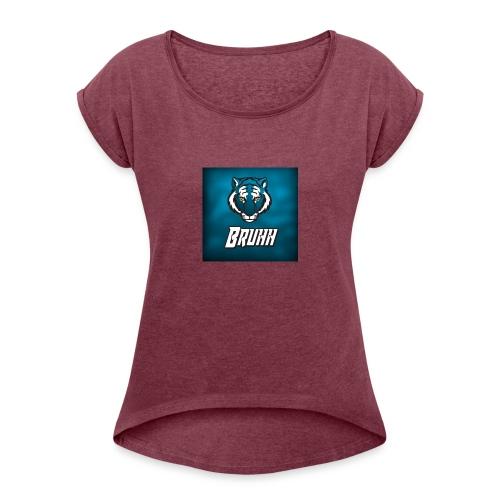 Bruhh12 - T-skjorte med rulleermer for kvinner