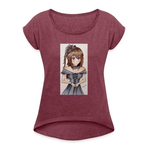 Ragazza manga anni 80 - Maglietta da donna con risvolti