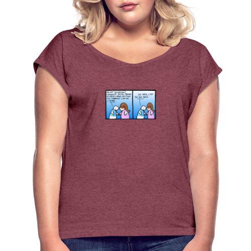 partage - T-shirt à manches retroussées Femme