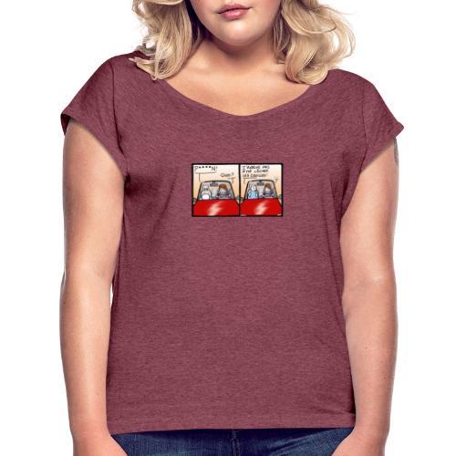 comme le chat - T-shirt à manches retroussées Femme