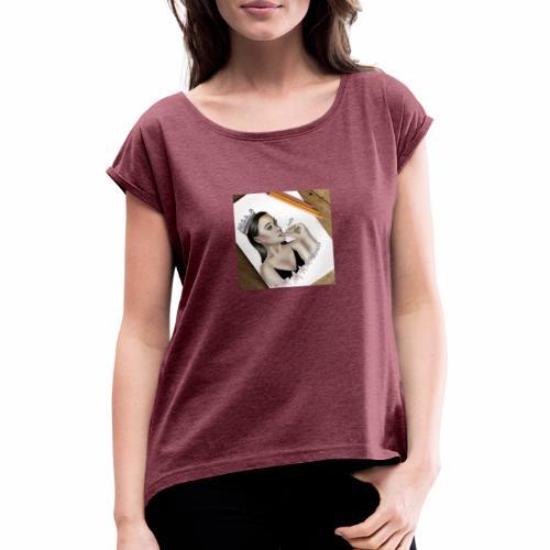 The Queen - Vrouwen T-shirt met opgerolde mouwen