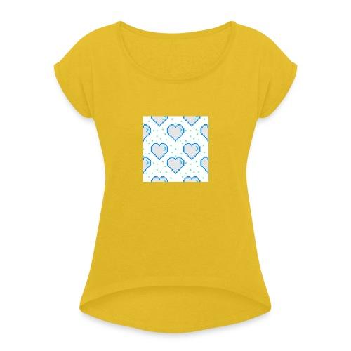 W3EOW - T-shirt med upprullade ärmar dam