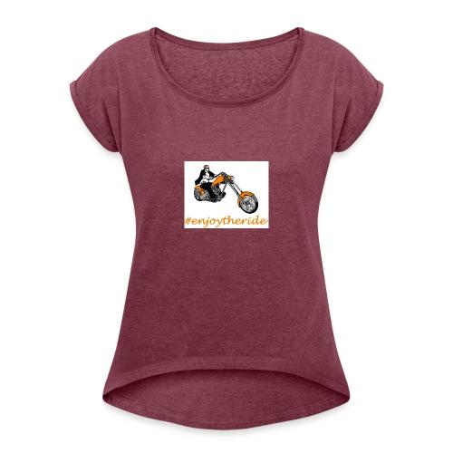 enjoytheride - T-shirt à manches retroussées Femme