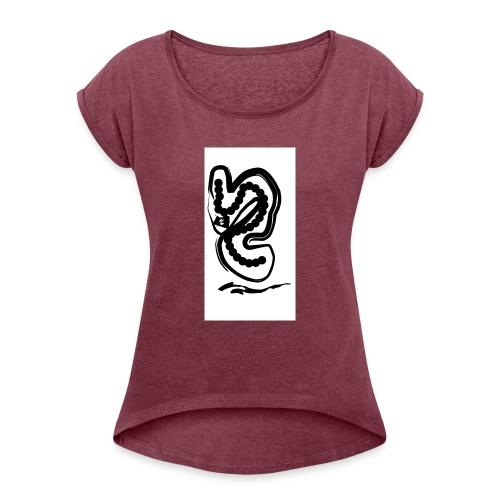 Projekt - Frauen T-Shirt mit gerollten Ärmeln