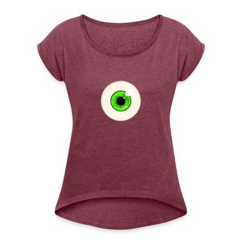 Ojo 2 - Camiseta con manga enrollada mujer