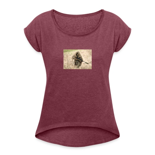 size0 - Women's T-Shirt with rolled up sleeves