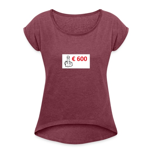 Dike middelvinger - Vrouwen T-shirt met opgerolde mouwen