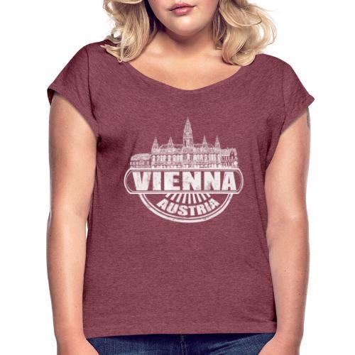 Vienna Fashion - Frauen T-Shirt mit gerollten Ärmeln