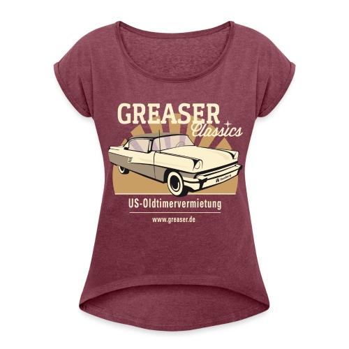 gross png - Frauen T-Shirt mit gerollten Ärmeln
