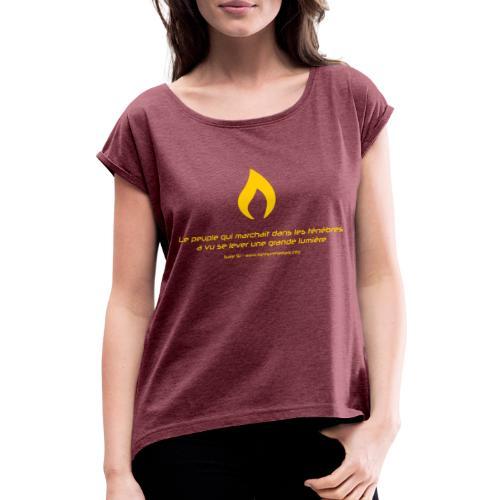 Flamme de Lights in the Dark - T-shirt à manches retroussées Femme