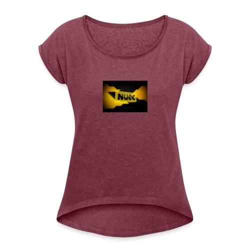 nuec - Vrouwen T-shirt met opgerolde mouwen