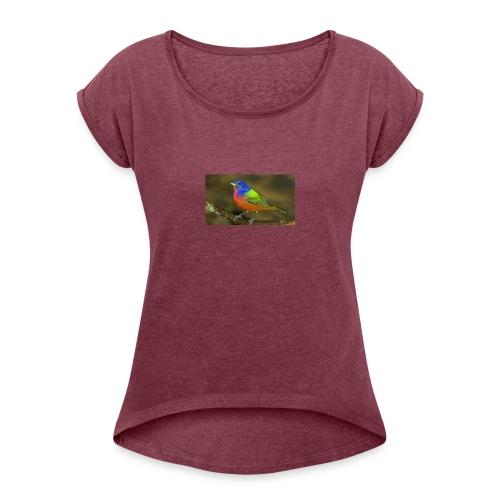 produit d'ete - T-shirt à manches retroussées Femme